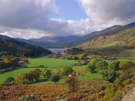 Capel Curig and Snowdonia, North Wales, UK Photographic Print