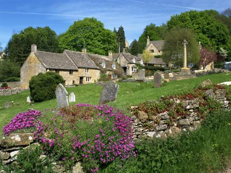 Cemetery at the Small Village of Snowhill, in the Cotswolds, Gloucestershire, England, UK Photographic Print