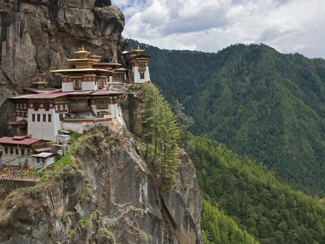 Taktshang Goemba, 'Tiger's Nest', Bhutan's Most Famous Monastery, Perched Miraculously on Ledge of  Photographic Print
