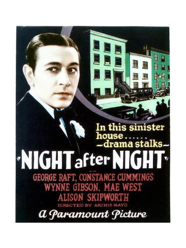 Night After Night - Movie Poster Reproduction Art Print
