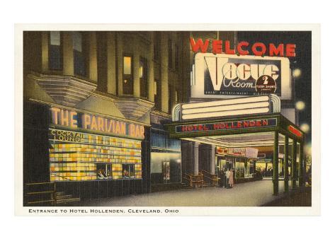 Night, Hotel Hollenden, Cleveland, Ohio Art Print
