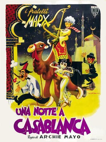 Night in Casablanca, Italian Movie Poster, 1946 Art Print