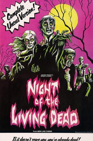 Night of the Living Dead, 1968 Art Print