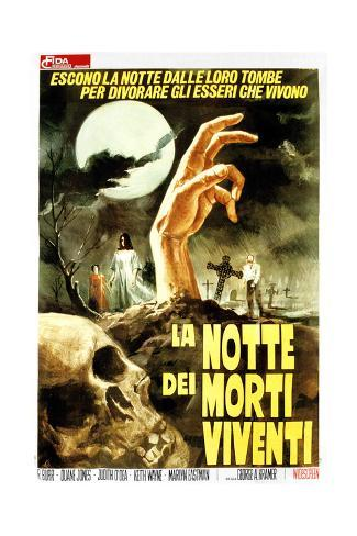 Night of the Living Dead, (aka La Notte Dei Morti Viventi), Italian Poster Art, 1968 ジクレープリント