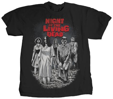 Night of the living dead bloodthirsty skjortor p for Attack of the 50 foot woman t shirt