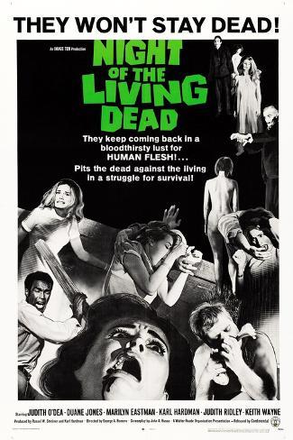 Night of the Living Dead, Duane Jones, Judith O'Dea, Marilyn Eastman, 1968 Premium Giclee Print