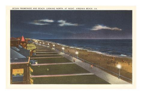 Night, Virginia Beach, Virginia Art Print