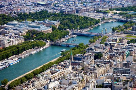 Aerial View of Paris Photographic Print
