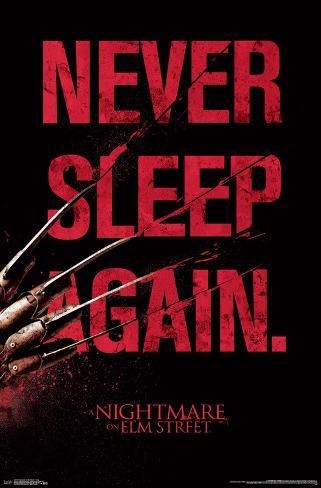 Nightmare On Elm Street- Never Sleep Again Poster