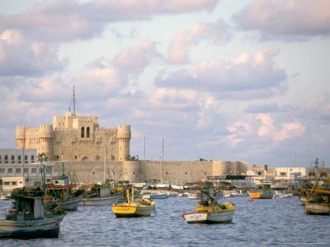 15th Century Castle, Fort Qait Bay, Alexandria, Egypt Photographic Print