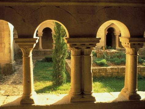 Cloisters, Ganagobie Abbey, France Photographic Print