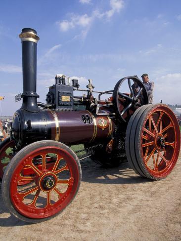 Great Dorset Steam Fair, Vintage Steam Engine, Dorset, England Photographic Print