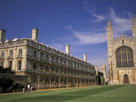 Kings College, Cambridge, England Photographic Print