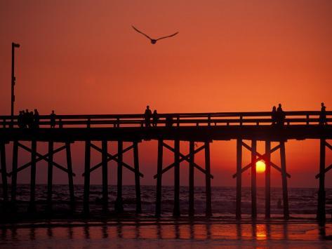 Newport Beach Pier, California, USA Photographic Print