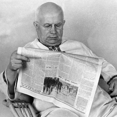 Nikita Khrushchev, 1965 Stampa fotografica