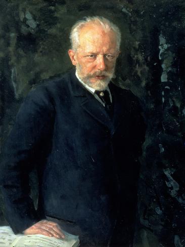Portrait of Piotr Ilyich Tchaikovsky (1840-93), Russian Composer, 1893 Giclee Print