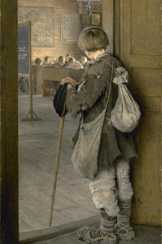 At the School Door, 1897 ジクレープリント