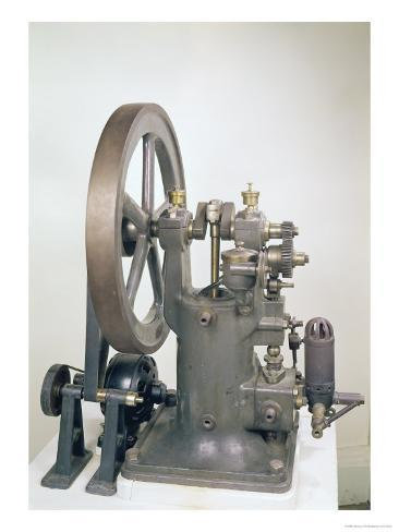 Internal Combustion Engine, 1876 Giclee Print