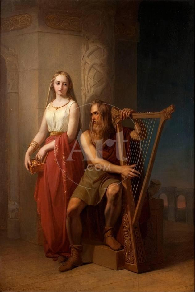 Idun And Bragi 1846 Giclee Print By Nils Jakob Blommer At