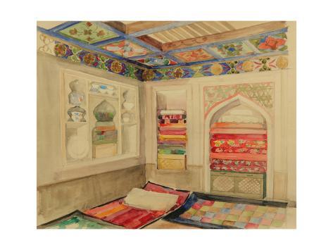 Uzbek House in Margelan, 1941 Lámina giclée