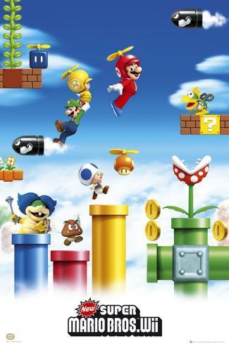 NINTENDO - Mario & Luigi Póster