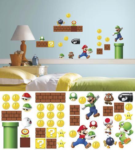Nintendo - Super Mario - Costruisci una scena (sticker murale) Decalcomania da muro