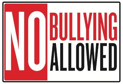 No Bullying Allowed Classroom Poster Framed Poster