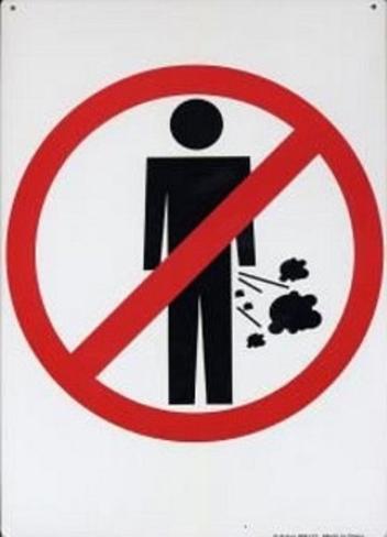 No Farting Tin Sign