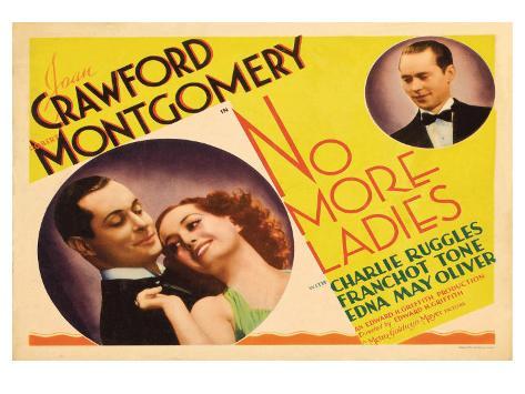 No More Ladies, 1935 Art Print