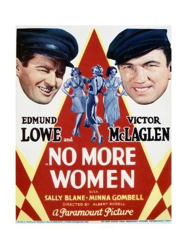 No More Women - Movie Poster Reproduction Art Print