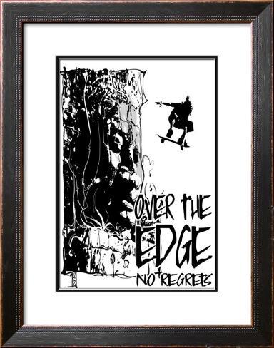 No Regrets: Over the Edge Framed Art Print