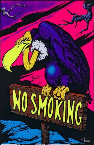 No Smoking Blacklight Poster
