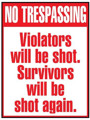 photograph relating to Printable No Trespassing Sign called No Tressping Indicator Artwork Print Poster