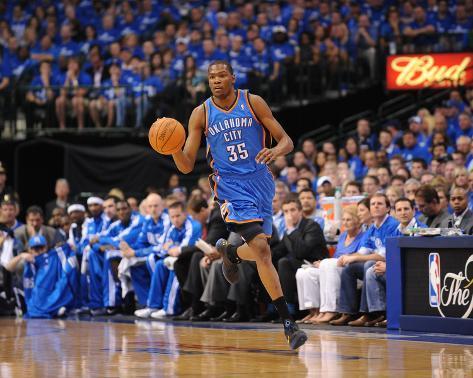 Oklahoma City Thunder v Dallas Mavericks - Game One, Dallas, TX - MAY 17: Kevin Durant Photo
