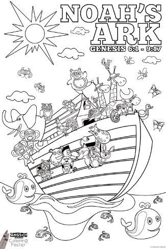 Noah's Ark Coloring Photo - AllPosters.ca