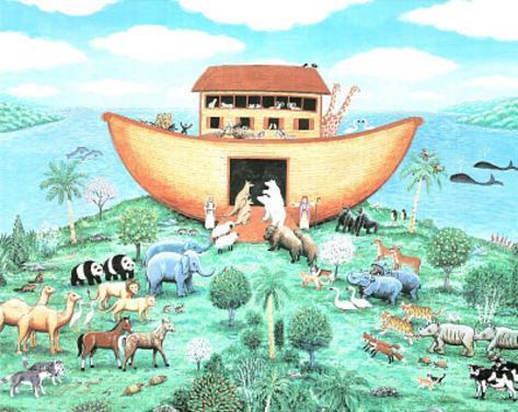 Noah's Ark (Religious) Art Print Poster Mini Poster