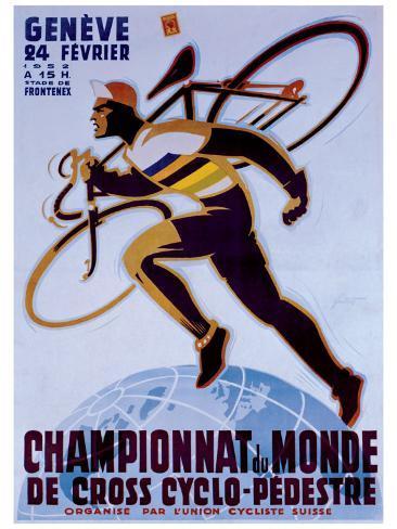 Championnat du Monde de Cross Cyclo-Pedestre Giclee Print