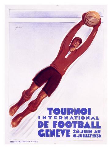 Tournoi de Football, Geneve Giclee Print