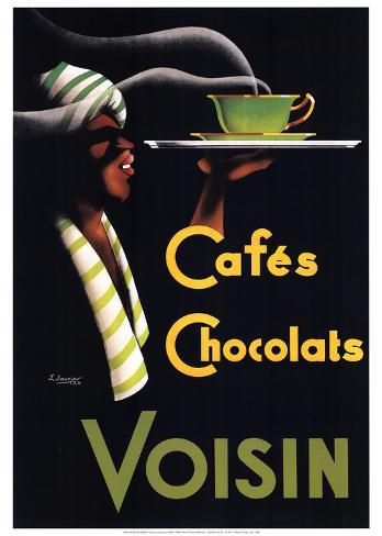 Cafes Chocolats Art Print