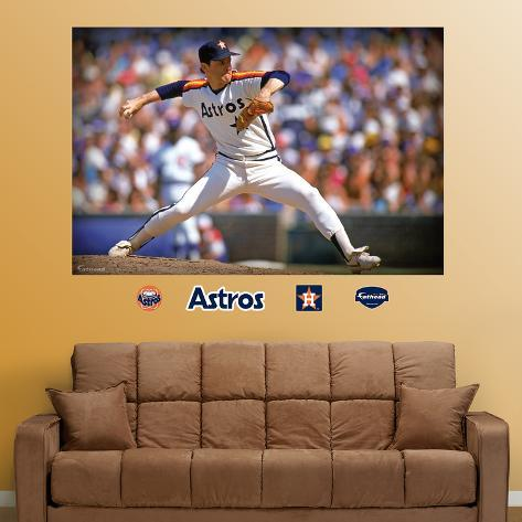 Nolan Ryan Astros Mural   Wall Decal