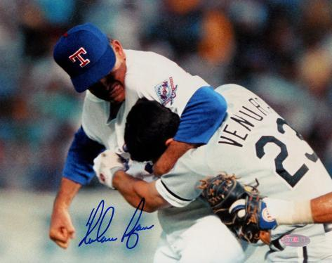 Nolan Ryan Ventura Fight Signed Autographed Photo (Hand Signed Collectable) Photo