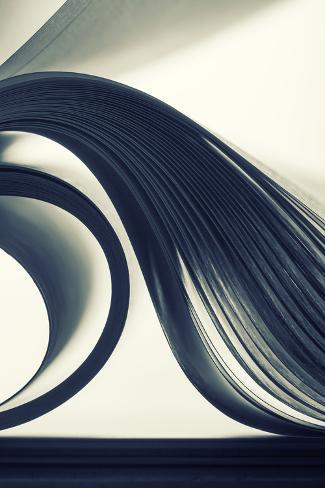 Macro View of Abstract Paper Curves Photographic Print