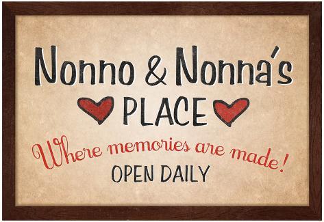 Nonno and Nonna's Place Poster