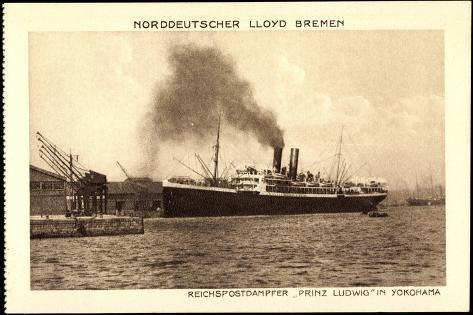 Norddeutscher Lloyd Bremen, Dampfer Prinz Ludwig Giclee Print