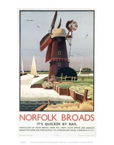 Norfolk Broads Windmill Art Print