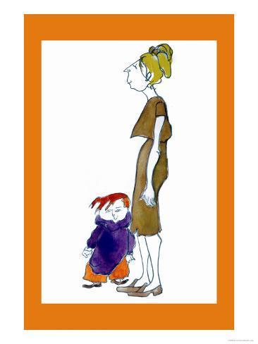 Jake and Mom Art Print