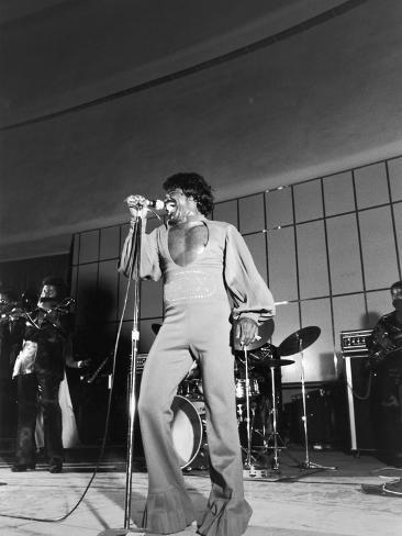Soul James Brown, 1974 Concert Photographic Print