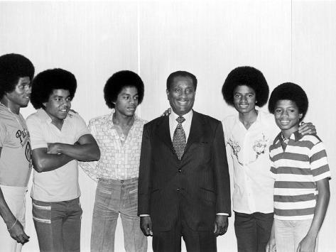 The Jackson Five and John H. Johnson Photographic Print