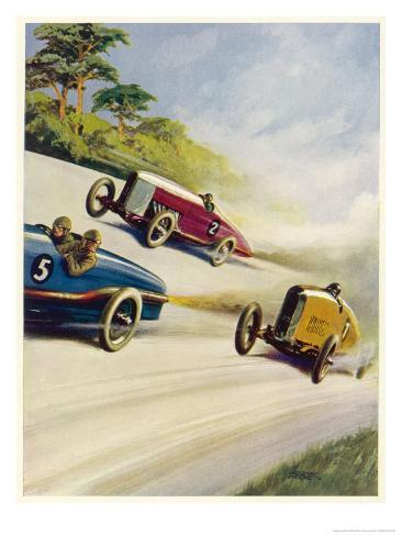 Racing Cars Of 1926 Oddly One Car Is Carrying Two People The Others Only