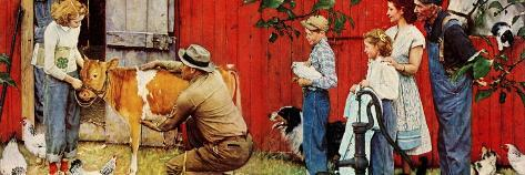 Norman Rockwell Visits a County Agent Giclee Print